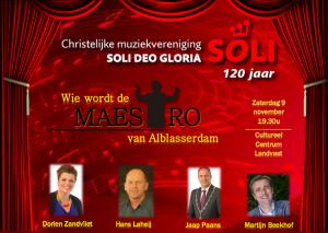 Wie wordt de Maestro van Alblasserdam 2019 @ Cultureel Centrum Landvast